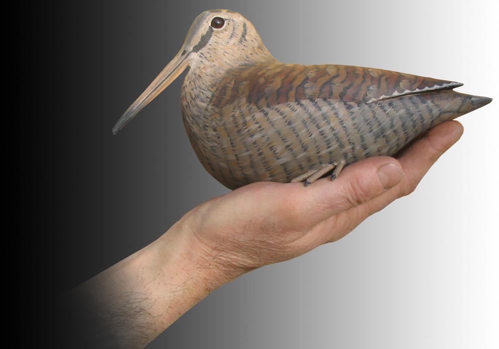Oiseaux en bois sculptés